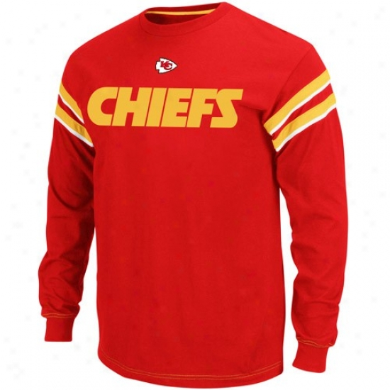 Kc Chief Apparel: Kc Chief Red End Of The Line Ii Long Sleeve Vintage T-shirt