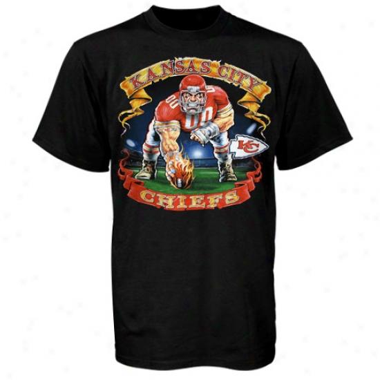 Kc Chief Shirts : Kc Chief Black Banner Shirts