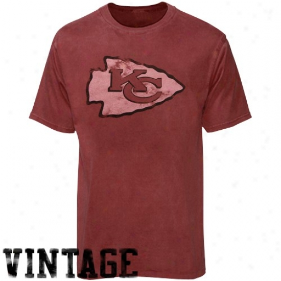 Kc Chief T Shirt : Kc Chief Heather Red First Rounder Vintage T Shit