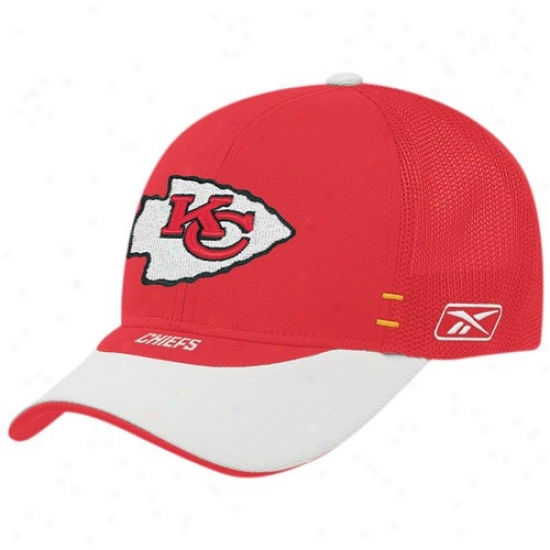 Kc Chiefs Cap : Reebok Kc Chiefs Red Draft Da6 Cap