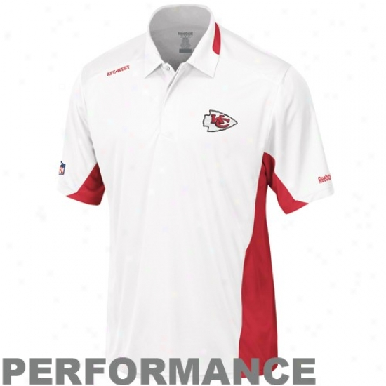Kc Chiefs Clothes: Reebok Kc Chiefs Whi5e Clutch Sideline Performance Polo