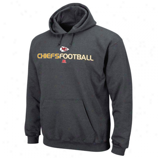 Kc Chiefs Hoodies : Kc Chiefs Charcoal 1st And Post  Iii Hoodies