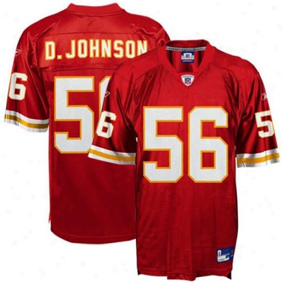 Kc Chiefs Jersey : Reebok Nfl Equipment Kc Chiefs #56 Derrick Johnson Red Replica Football Jresey