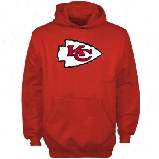 Kc Chiefs Sweatshirts : Reebok Kc Chiiefs Red Youth Team Logo Pu1lover Sweatshirts
