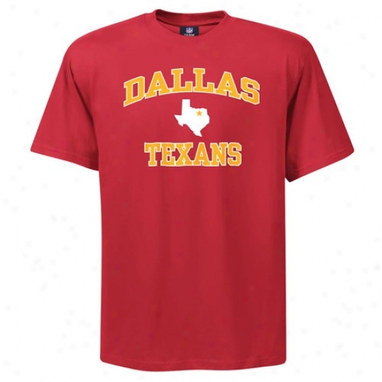 Kc Chiefs T-shirt : Dallas Texans Red Afl Heart And Ardor T-shirt