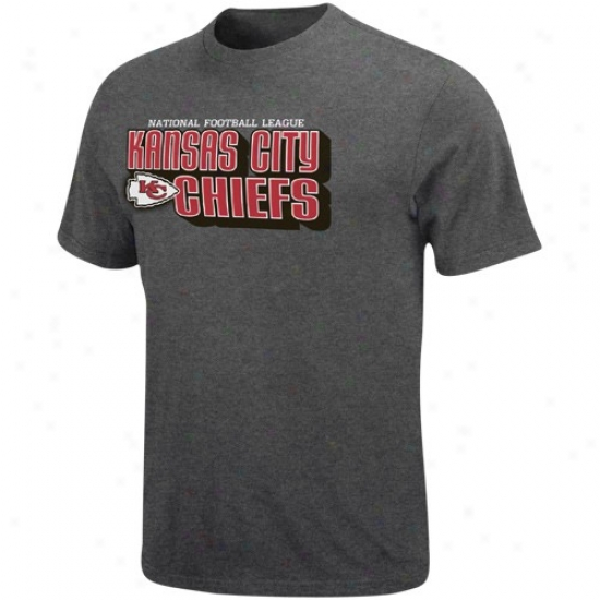 Kc Chiefs Tshirt : Kc Chiefs Charcoal Defensive Van Heathered Tshiet