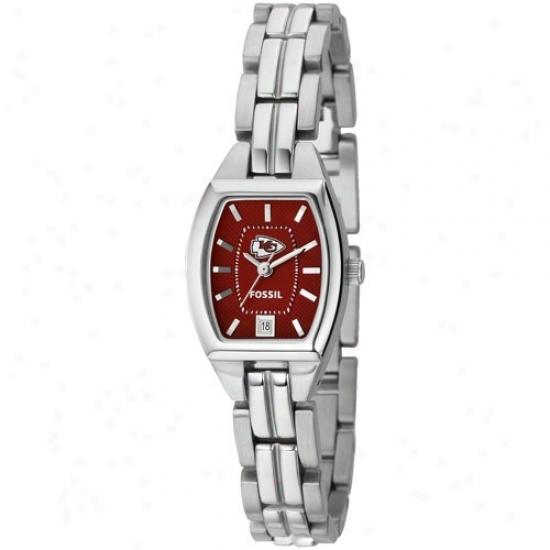 Kc Chiefs Watch : Fossil K cChiefs Ladies Stain3lss Steel Analog Cushion Watch