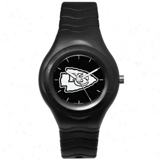 Kc Chiefs Wrist Watch : Kc Chief sBlack Shadow Team Logo Sport Wrist Watch