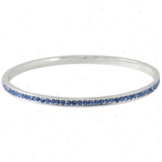 Light Azure Crystal Bangle Bracelet