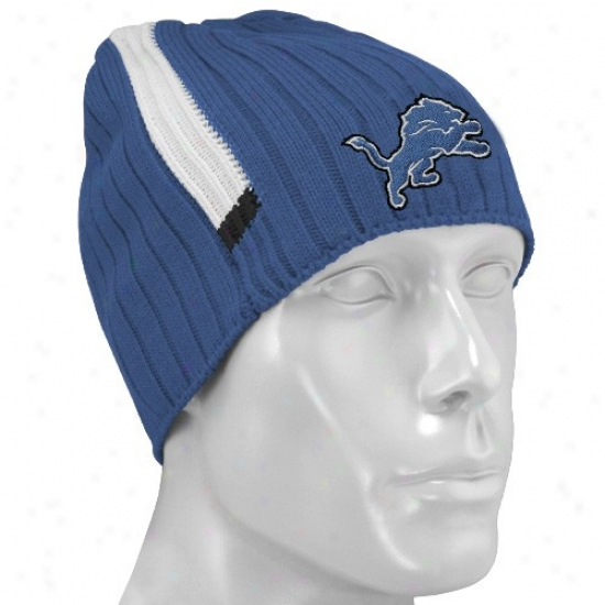 Lions Caps : Reebok Lions Blue Coaches 2nd Season Knit Beanie