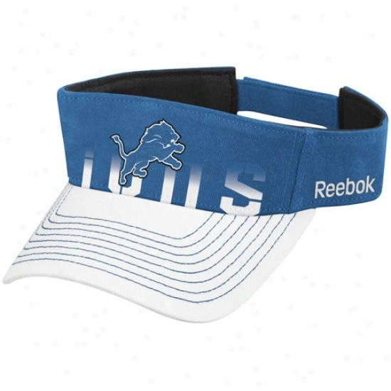 Lions Caps : Reebok Lions Light Blue-white Players Visor