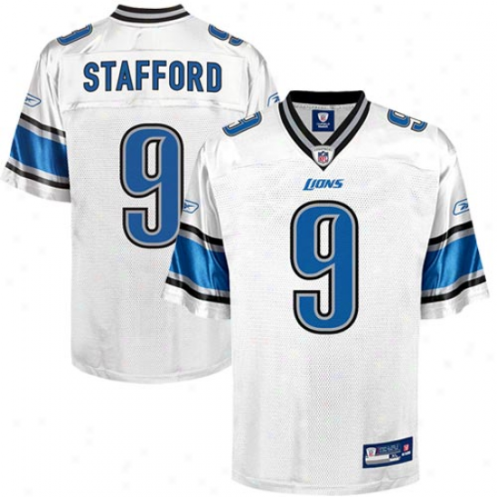 Lions Jersey : Reebok Matthew Stafford Lions Youth Replica Jersey-white