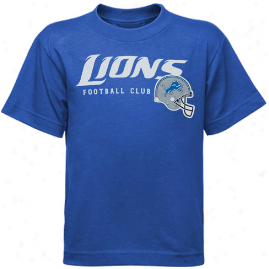 Lions Shirts : Reebok Lions Toddler Light Blue The Call Is Tails Shirts