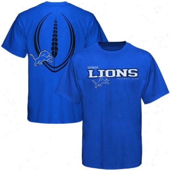 Lions T Shirt : Reebok Lions Royal Blue Ballistic T Shitr