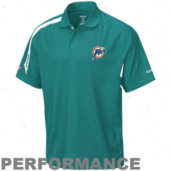 Miami Dolphin Clothing: Reebok Miami Doplhin Aqua Touch Performance Popo