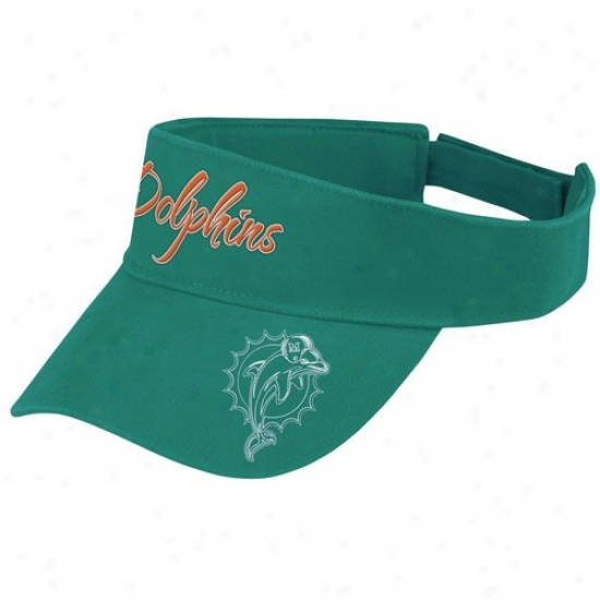 Miami Dolphin Hats : Reebok Miami Dolphin Ladies Aqua Fashion Adjustable Visor