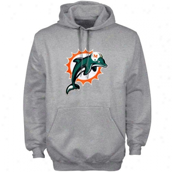 Miami Dolphon Hoody : Reebok Miami Dolphin Ash Playboik Hoody