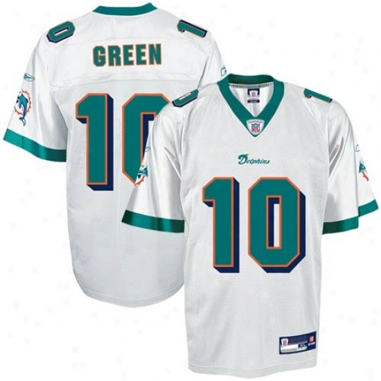 Miami Dolphin Jerseys : Reebok Nfl Equipment Miami Dolphin #10 Trent Green White Replica Football Jerseys