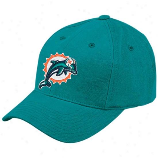 Miami Dolphin Merchandiqe: Reeboo Miami Dolphin Aqua Basic Logo Brushed Cotton Hat