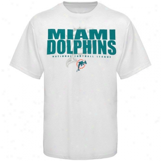 Miami Dolphin T Shirt : Miami Dolphin White Field Of Play T Shirt