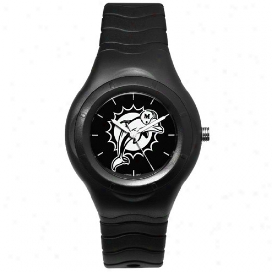Miami Dolphin Watches : Miami Dolphin Wicked Shadow Team Logo Sport Watches
