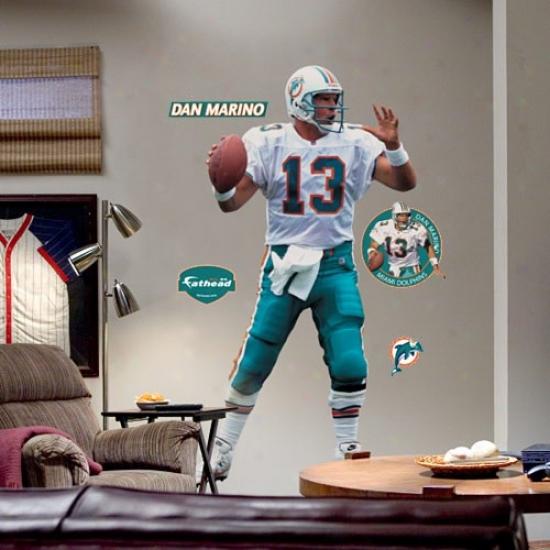 Miami Dolphins #13 Dan Marino Player Fathead