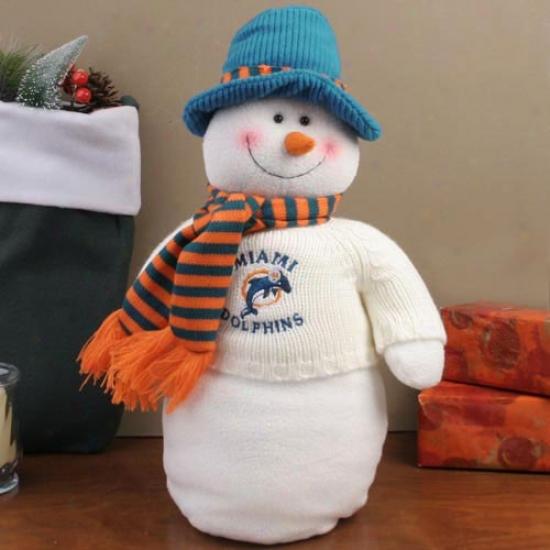 Miami Dolphins 18'' Plush Snowman