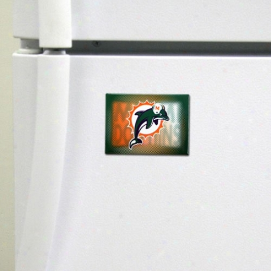 Miami Dolphins 2'' X 3'' Nfl Team Logo Loadstone