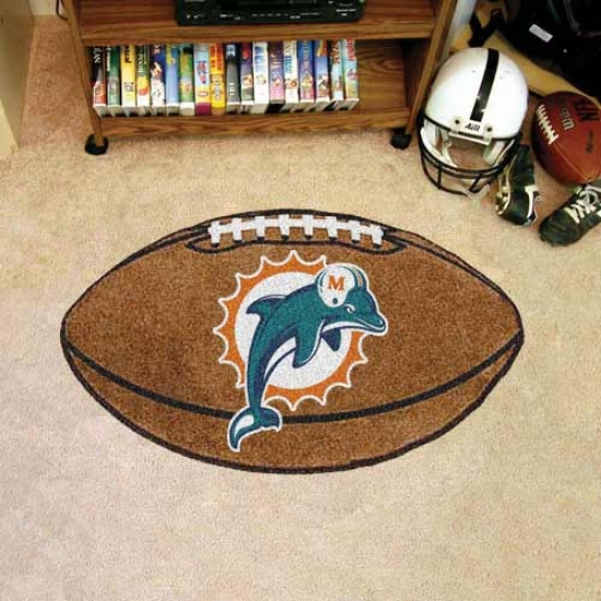 """miami Dolphins 22""""x35"""" Football Mat"""