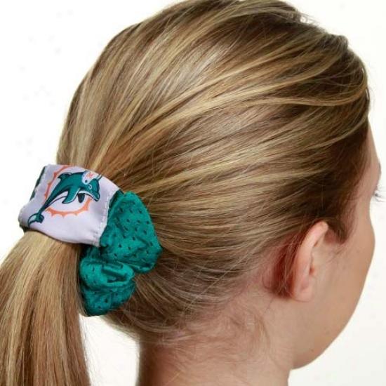Miamj Dolphins Aqua Mesh Hair Twist