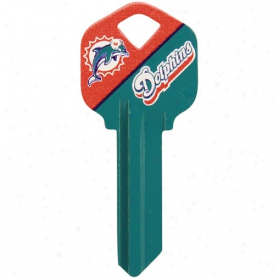 Miami Dolphins Aqua-orange House Key