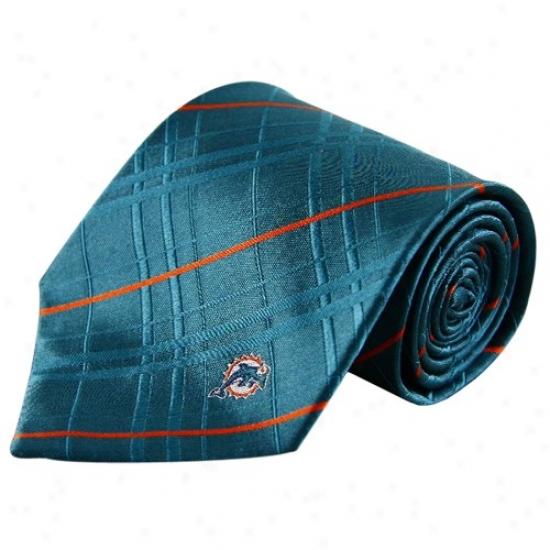 Miami Dolphjns Aqua Oxford Woven Tie