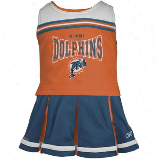 Miami Dolphins Aqua Preschool 2-piece Cheerleader Dress