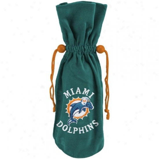 Miami Dolphins Aqua Wine Bottle Bag