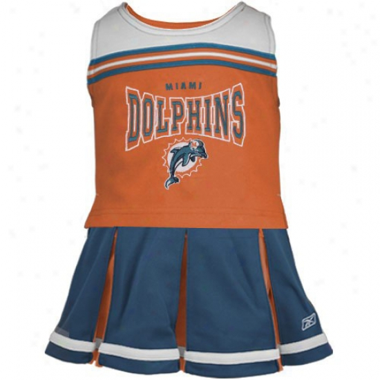 Miami Dolphins Aqua Youth 2-piece Cheerleader Dress