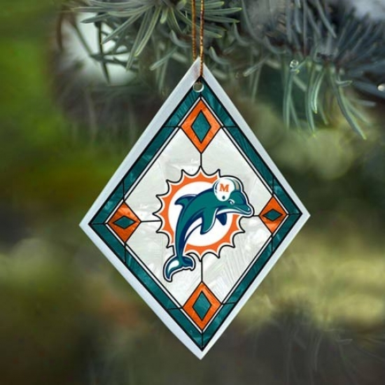Miami Dolphins Art-glass Ornament