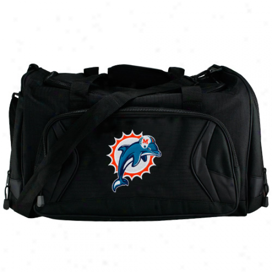 Miami Dolphins Blacck Fly-by Duffel Bag