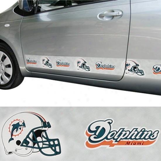 Miami Dolphins Car Trim Magnet