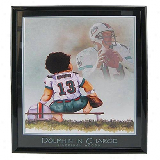 """miami Dolphins Dan Marino """"dolphin In Charge"""" Picture"""
