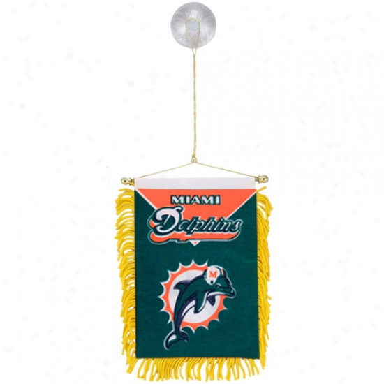 Miami Dolphins Flags : Miami Dolphins Team Mini Flags Flags