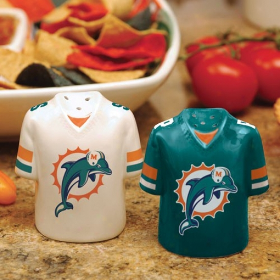 Miami Dolphins Gameday Ceramic Salt & Pepper Shakers