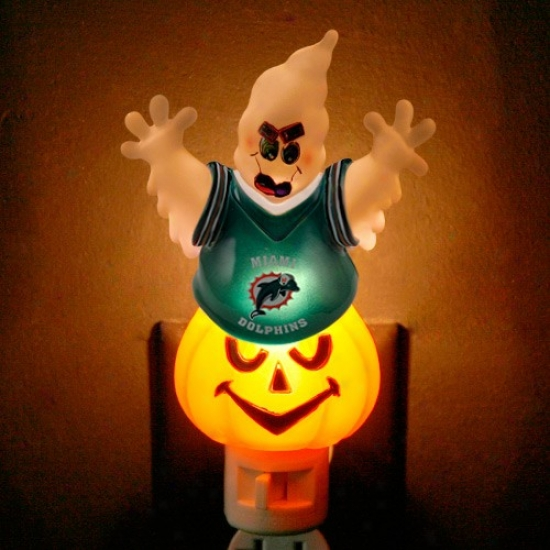 Miami Dolphins Halloween Ghost Night Illumine