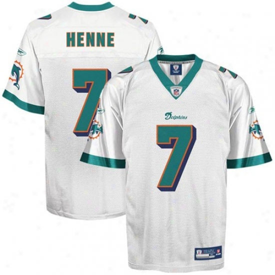 Miami Dolphins Jersey : Reebok Chad Henne Miami Dolphins Replica Jersey - White