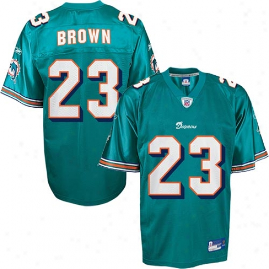 Miami Dolphins Jersey : Reebok Nfl Equipment Miami Dolphins #23 Ronnie Brown Aqua Youth Replica Football Jersey