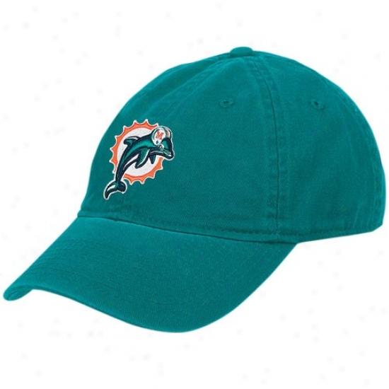 Miami Dllphins Merchandise: Reebok Miami Dolphins Aqua Ladies Basic Slouch Hat