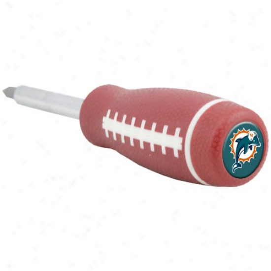 Miami Dolphins Pro-grip Football Screwdriver And Drill Bits