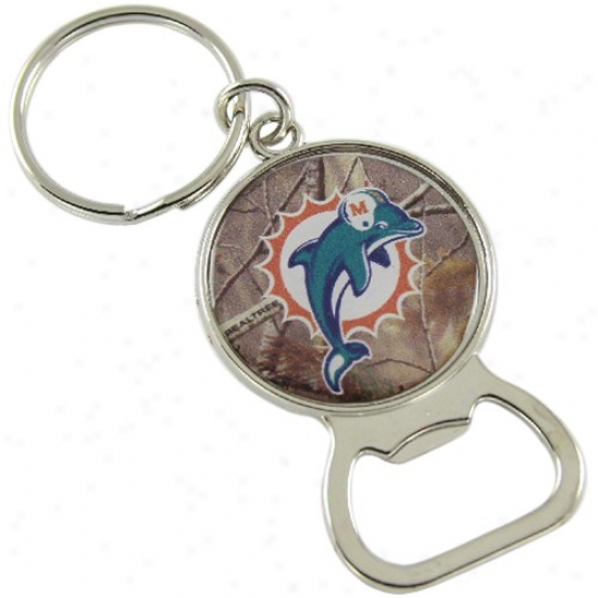 Miami Dolphins Real Tree Camo Bottle Opener Keychain