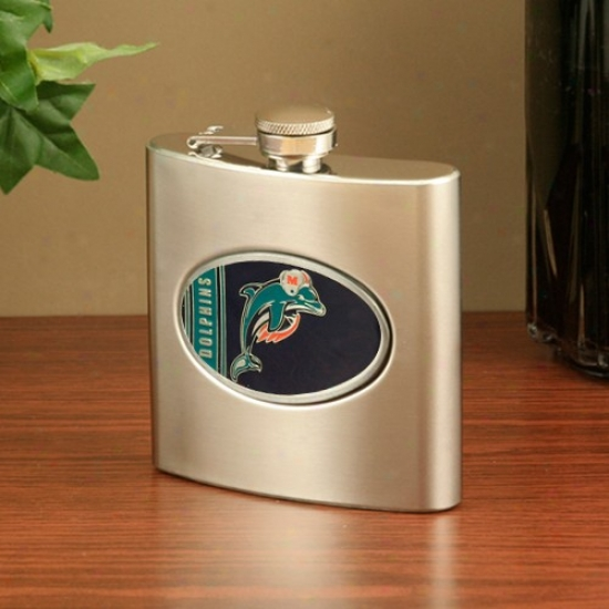 Miami Dolphins Stainless Steel Flask
