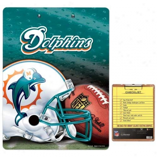 Miami Dolphins Team Logo Clipboard