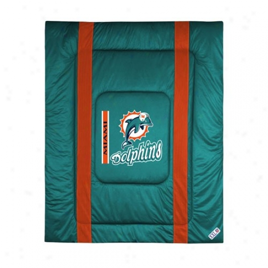Miami Dolphins Twin Size Sideline Comforter